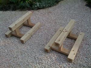座卓で テイブルを使用する場合の脚の配置~!
