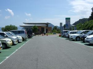 海水浴場の駐車場