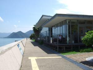 海水浴場に併設されてるイタリアンレストラン