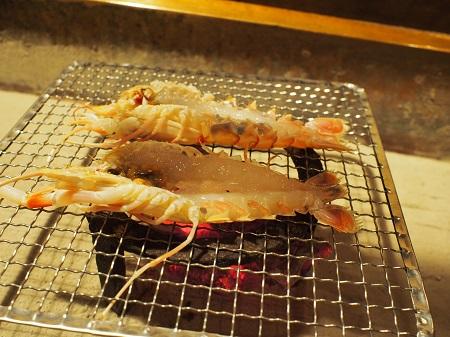 あかざ海老の焼き物