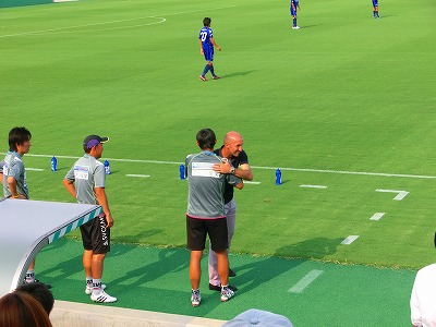 2011.8.13ポポと竹中コーチ