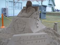 芦屋名物の砂の像