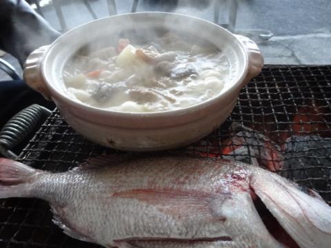 鯛もつ鍋パーティー③