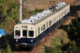 2011年10月28日 上田電鉄別所線 大学前~下之郷 7200系7253F