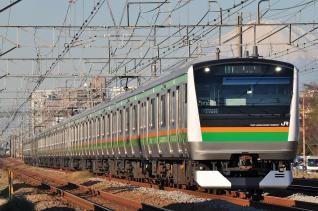 2011年12月12日 JR東日本東海道本線 辻堂~藤沢 E233系NT52+NT2