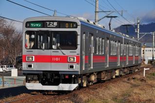 2011年12月17日 上田電鉄別所線 寺下~神畑 1000系1001F