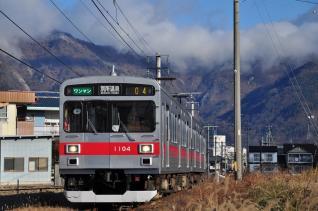 2011年12月17日 上田電鉄別所線 上田原~寺下 1000系1004F