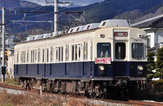 2011年12月17日 上田電鉄別所線 赤坂上~三好町 7200系7255F サンタトレイン2011