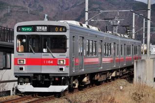 2011年12月17日 上田電鉄別所線 上田~城下 1000系1004F