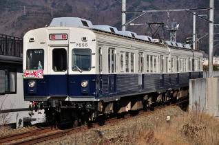 2011年12月17日 上田電鉄別所線 上田~城下 7200系7255F サンタトレイン2011