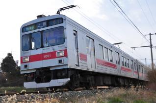 2011年12月19日 上田電鉄別所線 赤坂上~上田原 1000系1001F