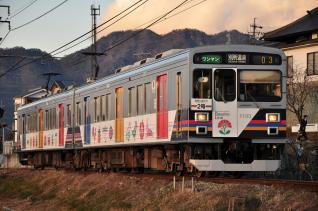 2011年12月19日 上田電鉄別所線 寺下~神畑 1000系1003F