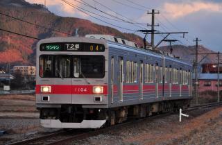 2011年12月20日 上田電鉄別所線 大学前~下之郷 1000系1004F