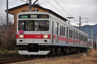 2012年1月4日 上田電鉄別所線 中塩田~塩田町 1000系1004F