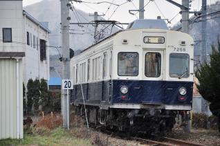 2012年1月4日 上田電鉄別所線 下之郷 7200系7255F
