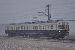 2012年1月4日 上田電鉄別所線 下之郷~大学前 7200系7255F