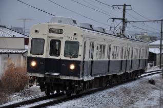 2012年1月4日 上田電鉄別所線 三好町~赤坂上 7200系7255F