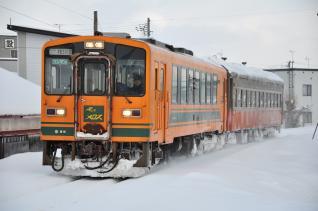 2012年1月10日 津軽鉄道線 十川~津軽五所川原 津軽21-103+オハフ331