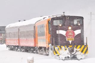 2012年1月10日 津軽鉄道線 津軽飯詰~五農校前 DD352+津軽21-103+オハフ331+オハ462