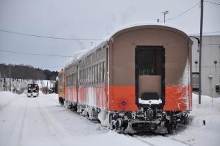 2012年1月10日 津軽鉄道線 津軽中里 DD352 入換