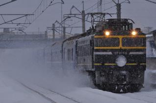 2012年1月23日 JR東日本奥羽本線 弘前~撫牛子 EF81-114+24系 寝台特急日本海