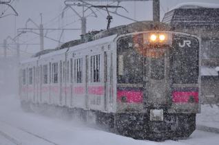 2012年1月23日 JR東日本奥羽本線 弘前~撫牛子 701系N6編成