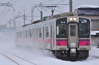 2012年1月23日 JR東日本奥羽本線 弘前~撫牛子 701系N8編成