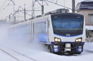 2012年1月23日 JR東日本奥羽本線 弘前~撫牛子 HB-E300系青池編成 リゾートしらかみ2号