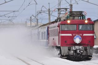 2012年1月23日 JR東日本奥羽本線 弘前~撫牛子 EF81-136+24系 寝台特急あけぼの