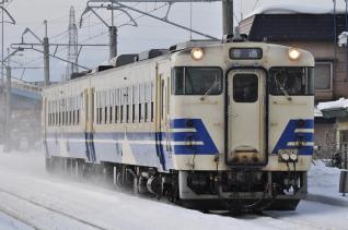 2012年1月23日 JR東日本奥羽本線 弘前~撫牛子 キハ48-1504+キハ48-****