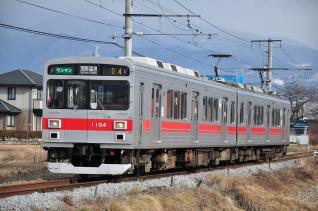 2012年1月27日 上田電鉄別所線 三好町~赤坂上 1000系1004F