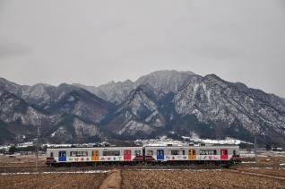 2012年1月27日 上田電鉄別所線 舞田~八木沢 1000系1003F