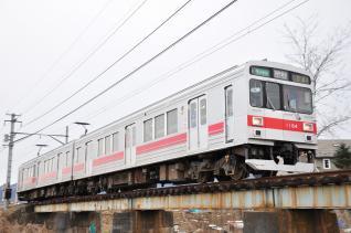 2012年1月27日 上田電鉄別所線 下之郷~中塩田 1000系1004F