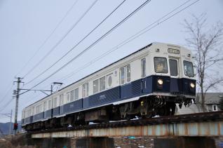 2012年1月27日 上田電鉄別所線 下之郷~中塩田 7200系7253F