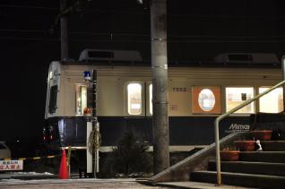 2012年1月27日 上田電鉄別所線 下之郷 7200系7253F