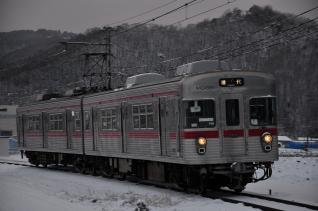 2012年1月28日 長野電鉄屋代線 象山口~岩野 3500系N6編成