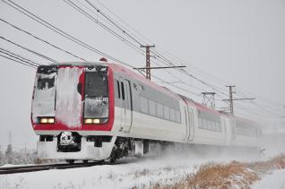 2012年1月28日 長野電鉄長野線 附属中学前~朝陽 2100系E2編成