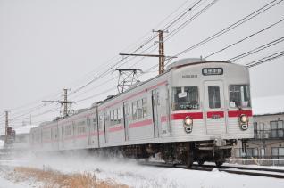 2012年1月28日 長野電鉄長野線 朝陽~附属中学前 3600系L2編成
