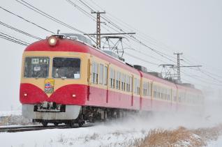 2012年1月28日 長野電鉄長野線 附属中学前~朝陽 2000系D編成