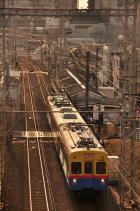 2012年2月1日 東急池上線 石川台~洗足池 デヤ7200+サヤ7590+デヤ7290