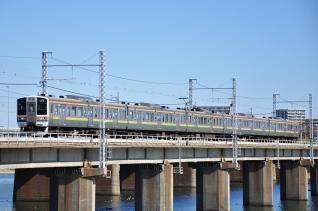 2012年2月4日 JR東日本東海道本線 茅ヶ崎~平塚 211系N52編成