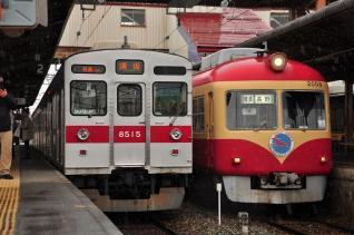 2012年2月25日 長野電鉄長野線 須坂 8500系T5編成・2000系D編成
