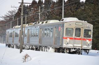2012年2月28日 十和田観光電鉄 三農校前~古里 7700系7703-7903