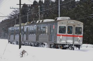 2012年2月28日 十和田観光電鉄 三農校前~古里 7700系7701-7901