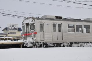 2012年2月28日 十和田観光電鉄 古里 7700系7901-7701