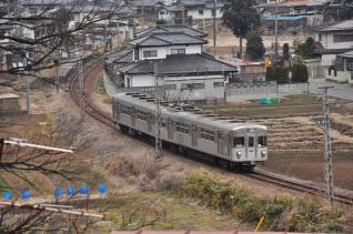 2012年3月9日 長野電鉄屋代線 大室~信濃川田 3500系O6編成