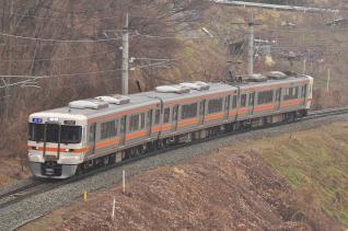 2012年3月9日 JR東日本篠ノ井線 稲荷山~姨捨 JR東海313系1700番台B153編成