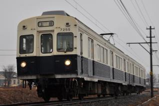2012年3月9日 上田電鉄別所線 下之郷~大学前 7200系7255F