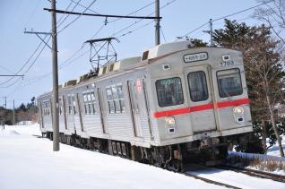 2012年3月16日 十和田観光電鉄 七百~柳沢 7700系7703-7903