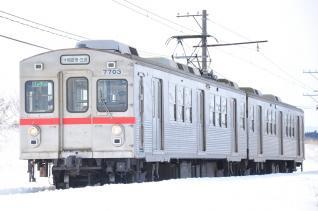 2012年3月16日 十和田観光電鉄 北里大学前~高清水 7700系7703-7903